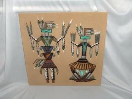 Art Sand Painting Walking Thunder Navajo Medicine Woman Liberation Woman... - $123.75