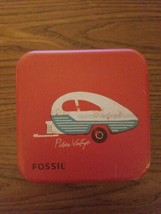 Large Fossil Watch Box Tin Themed Retro Collectible retro camper - $3.00