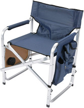 Faulkner Aluminum Director Chair with Folding Tray and Cup Holder, Blue - $88.72