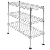 "Seville Classics 3-Tier Ultra Zinc Cabinet Organizer 17.5"" W x7.5"" D x 1... - $27.32"