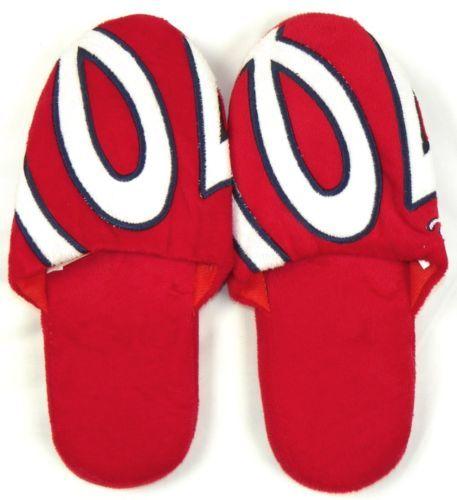 Washington Nationals Slippers Men's Women's House Shoes MLB Baseball Hard Sole