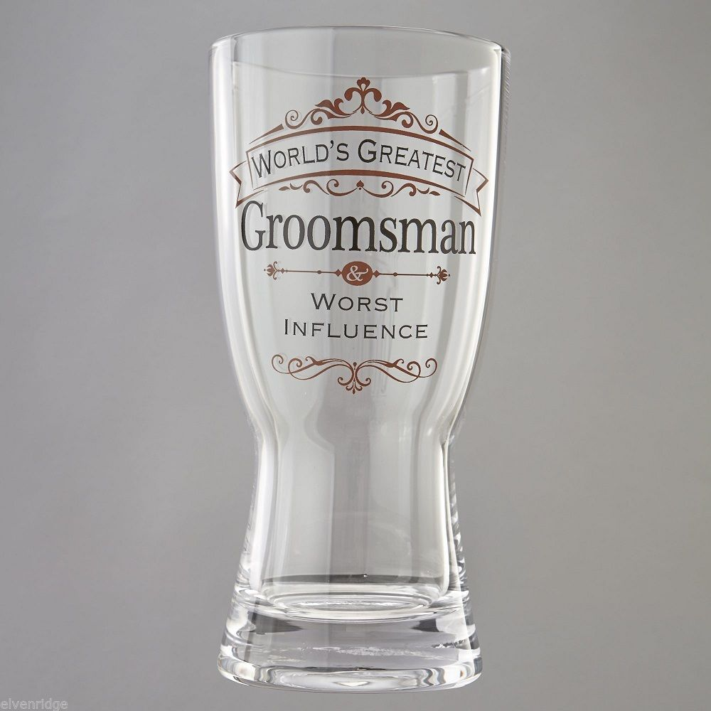 World's Greatest Groomsman Beer Mug  Insignia Brand Gift Box Worst Influence