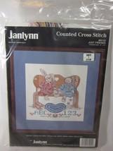 """JUST FRIENDS Vintage cross stitch kit Janlynn 1989 NIP 82-02 10"""" X 10"""" - $8.91"""