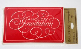 Vintage 8 Invitations Christmas Party A HOLIDAY INVITATION, Hallmark Cards - $13.32
