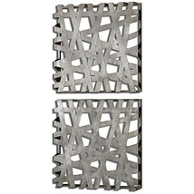 Uttermost 07676 Alita Squares Wall Art (Set of 2), Silver - $217.80