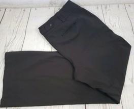 Ann Taylor Dress Pants Size 8 Brown Wide Leg Stretch Button Loop Career - $15.84