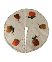 Bethany Lowe Crow and Pumpkin 15in Mini Tree Skirt Halloween Fall Thanks... - $29.95