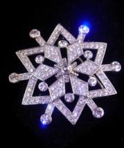 100 rhinestone pin -  Starburst Rhinestone brooch - large Vintage pin - ... - $85.00