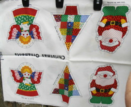Christmas Ornaments Fabric Panel Cranston - $12.99