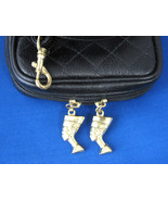 Purse King Tut Nefertiti Zipper Pulls Purse Egyptian Revival Shoulder Ba... - $38.00