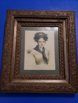 Vintage wood frame with note  Victorian Picture Frame 15.5x13.5 fit 10x... - $1.938,88 MXN