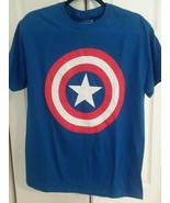 CAPTAIN AMERICA LIGHT BLUE T-SHIRT - MARVEL - FREE SHIPPING - $18.69