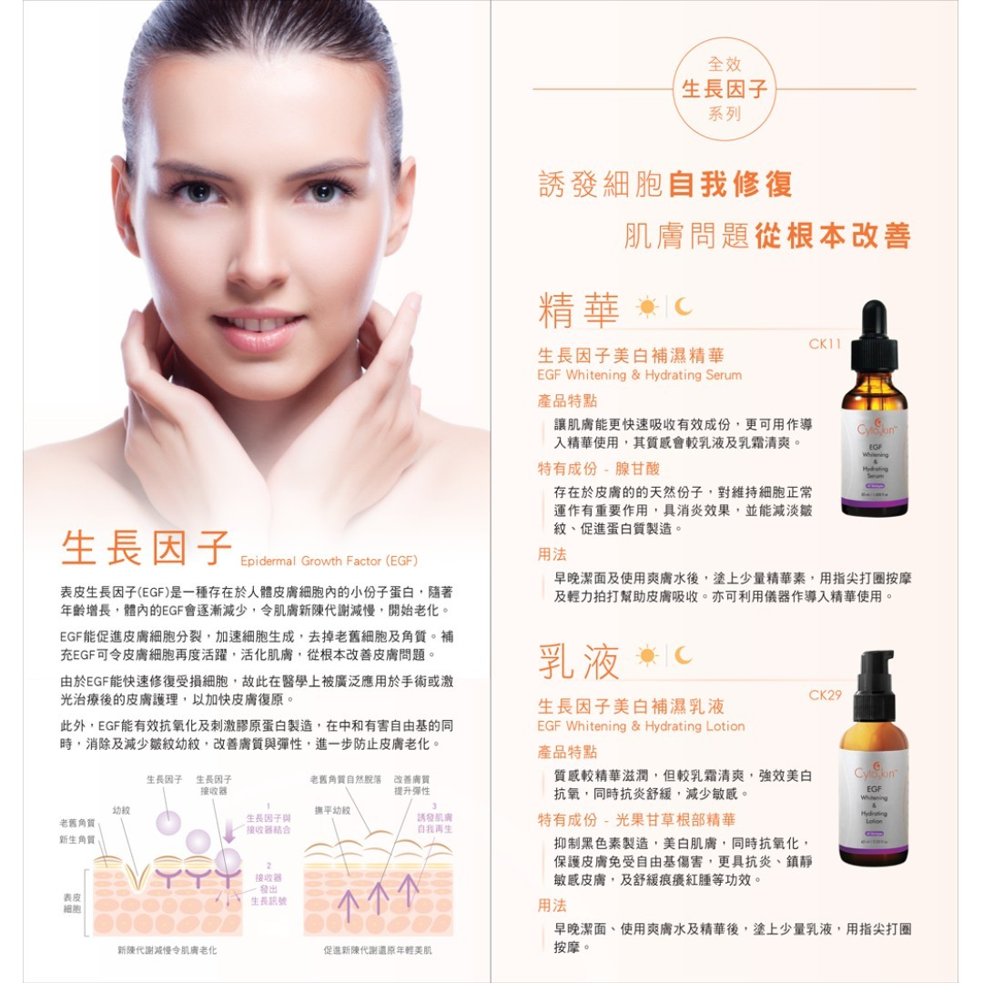 CytoSkin EGF Whitening & Hydrating Lotion for Face, 60ml + Free Sample