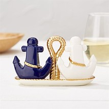 Twos Company Golden Anchor Salt and Pepper Shaker Set - $38.52