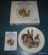 Goebel W. Germany 1975 First Edition Mothers Series Bunny Rabbit Family Plate - $24.24