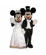 Wedding Mickey Minnie Mouse Couple Adult Mascot Costume Disney Prom Part... - $326.69