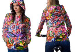 Psychedelic face dna trippy tongue dmtt hoodie women thumb200