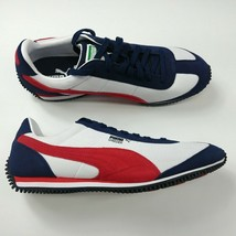 Puma Speeder Mesh Running Shoes White Navy Red Sneakers 368452-04 Mens S... - $65.41
