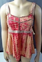 Womens sz S American Rag Boho Blouse shirt tie dye Nwts hippie red 718-s... - $18.71