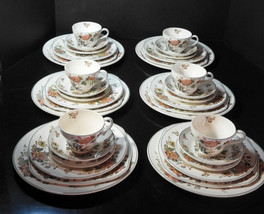 36 Piece Wedgwood Dinner 6 Piece Place Setting for Six - Eastern Flower - $185.24