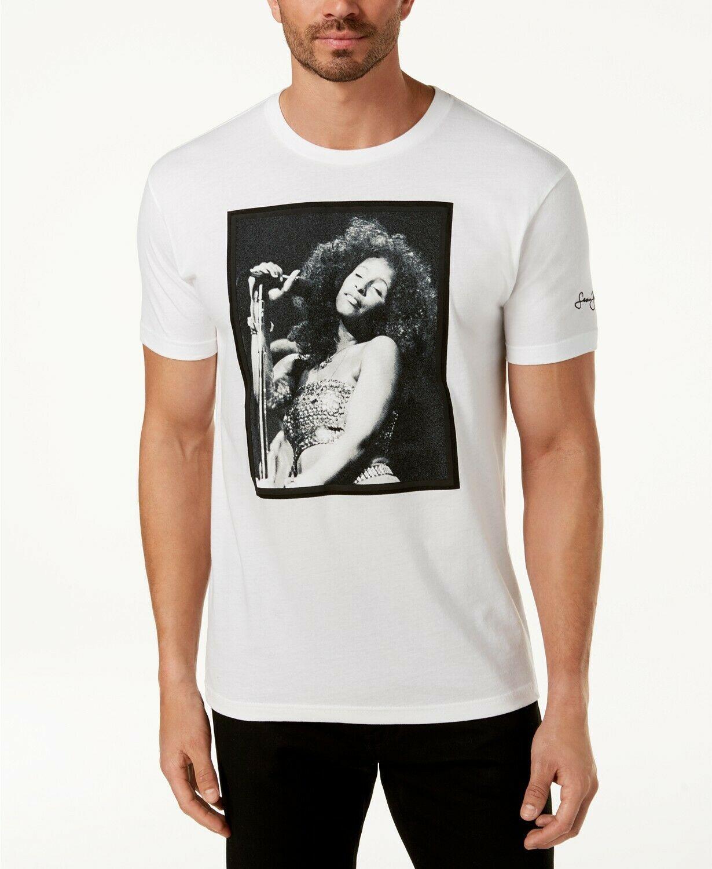 Sean John Mens Chaka Khan White Party Graphic-Print T-Shirt Unisex Tshirt