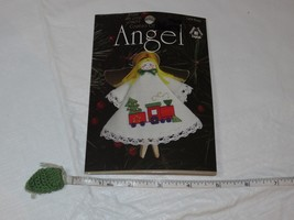 Angel Counted Cross Stitch Ornament 1475 train Greetings Christmas kit NOS RARE - $28.70