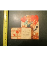 Valentine Vintage Card All set to go in a great big way - $5.99