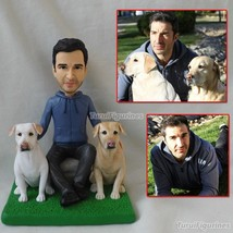 Polymer clay figurines custom Mr and Mrs Personalized name wedding cake ... - $138.00
