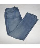 Women's Vera Wang-Simply Vera Blue Denim Capri/Cropped Jeans-Sz 4P Butto... - $15.99