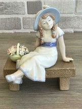 Nadal Girl with flowers Porcelain Figurine Perfect Condition Original Box - $148.50