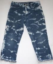 RETRO! Women's Lazer Jeans Bleached Fringe Denim Cropped Capris Size 5 P... - $19.99