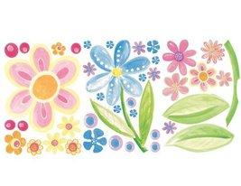 Wallies Wallpaper Big Flowers Mural, Set of 3 Sheets - $45.11