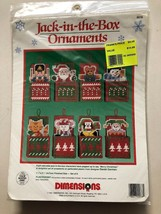 Dimensions Christmas Cross Stitch Jack In The Box 8 Ornament Kit 9078 Unopened - $16.73