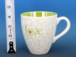 Collectible Starbucks Porcelain Coffee Mug 2005 12oz Chartreuse Love & Happiness
