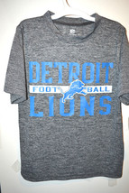 NFL Team Apparel Boys Detroit Lions T-Shirt Sizes XSmall 4-5 or Large 12... - $11.69