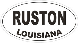 Ruston Louisiana Oval Bumper Sticker or Helmet Sticker D3865 - $1.39+