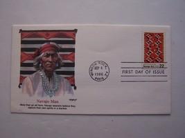 """Navajo Art"" Navajo Man Stamp First Day Cover 1986 Window Rock AZ - $5.63"