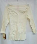 Spanx Shapewear Boat Neck Essential Control 3/4 Sleeve Top, Vanilla, Sma... - $19.79