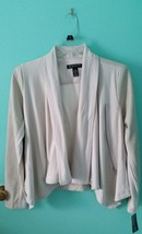 INC Neo Boho Dreamy Chalk Faux Leather Jacket SZ Petite Small - Tags Attached - $14.52