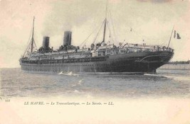 La Savoie Transatlantic Steamer Ocean Liner CGT Le Havre France 1905c po... - $6.44