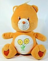 Orange Care Bear Plush Teddy Flowers Friends 2003 Stuffed Animal Nanco 1... - $29.00