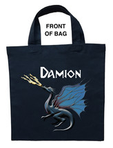 Blue Dragon Trick or Treat Bag, Blue Dragon Halloween Bag, Blue Dragon L... - $11.99+