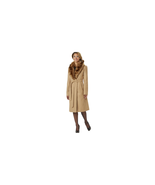 Outdoor Spirit Women's Belted Coat with Fur-Look Collar Camel Size 1X NWT - $79.19