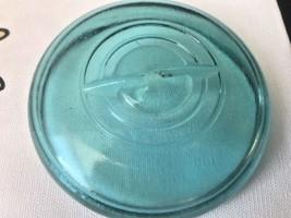 Vtg Aqua Blue Glass Lid Wire Bail Closure Canning Mason Jar Regular Size... - $9.89