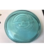 Vtg Aqua Blue Glass Lid Wire Bail Closure Canning Mason Jar Regular Size... - $9.89