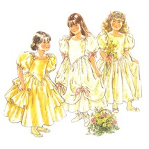 1990s Style Sewing Pattern 1892 Childs Flower Girl Special Occasion Dress 3 - $6.95
