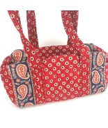 Vera Bradley Americana Red Paisley Shoulder Purse Zip Square Retired 2005 - $29.69