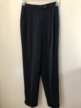 Lauren Ralph Lauren Womens Dress Pants Size 4 Black Cuffed Fully Lined  - $14.49
