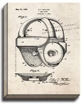Football Head Guard Helmet Patent Print Old Look on Canvas - $39.95+