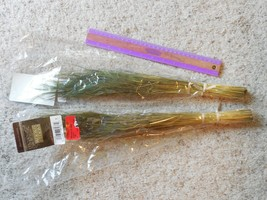 """NEW Lot of 2 Home Decor 1 ounce bunches Stipa Olive 16"""" -18"""" - $5.93"""